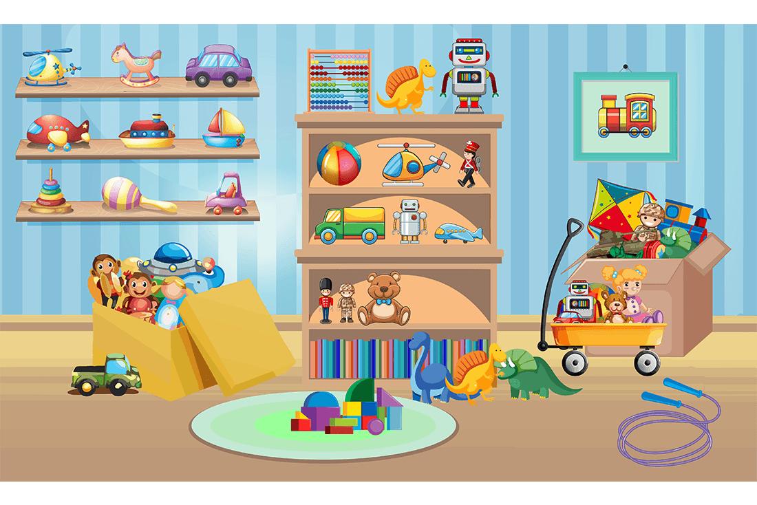 painel quarto de brinquedos